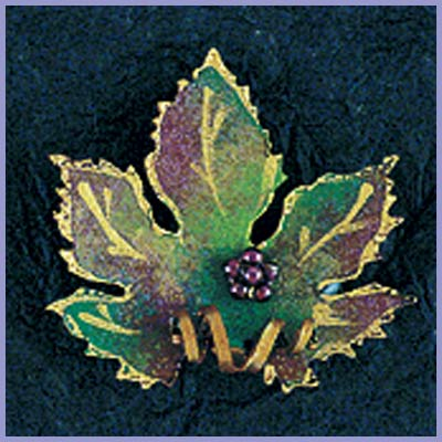 Grape Leaf Pin-