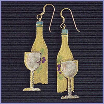 Wine Earrings-